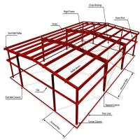 ASTM Warehouse Steel Structure / Prefab Steel Workshop With Free Design for sale