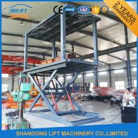 Quality 3T 3M Hydraulic Scissor Car Lift High Strength Manganese Steel Material For Basement for sale