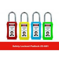 Quality 75mm Long Lock Body Colorful Isolation ABS Safety Lockout Padlocks with Keyed Alike for sale