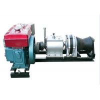 China Small Volume 5 Ton Cable Winch Puller Diesel Engine Powered Winch With Belt Driven on sale