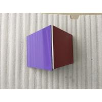 Quality Silver / Purple ACP Aluminium Composite Panel Smooth Surface For Wall Decoration for sale