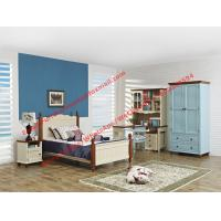 Quality Hotel style apartment interior furniture for single people bedroom set by double bed and read bookcase set with armoire for sale