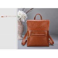 China Fashion Oil Wax Leather Womens Backpack Bags , Ladies Multifunctional Shoulder Bag on sale