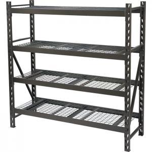 Quality Silver 4 Tier Shoe Storage Rack Shelf , Big Space Storage Metal Shelves for sale