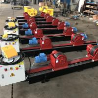 Quality Conventional Tank Turning Rolls , 5 Ton Welding Rotator With Manual Wheels Adjust for sale