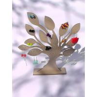 Quality Tree Jewelry Earring Holder Wooden Display Stand Laser 3mm MDF for sale
