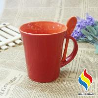 China 11 oz Temperature Control Color Changing Cup Ceramic Coffee Mug with Spoon And Holder on sale