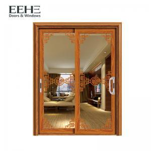 Quality Double Layer Black Aluminium Sliding Patio Doors Strong Temperature Resistance for sale