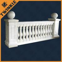 Quality Concrete outdoor inox yellow marble balustrade / stone garden ornaments for sale