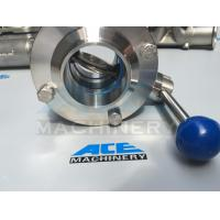Quality Sanitary Stainless Steel Butterfly Valve with Weld Ends (ACE-DF-2D) for sale
