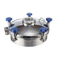 China Pressure Circular Stainless Steel Manhole Cover SS316L With Flange Sight Glass on sale