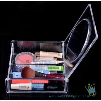 Quality acrylic clear cube makeup organizer drawer display for sale