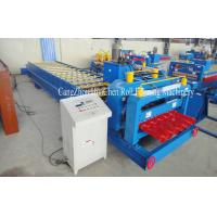Quality High Speed Steel Glazed Roll Forming Equipment With Hydraulic Press And Cut System for sale