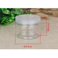 China Screw Lid Plastic Bottle Clear Plastic Cylinder Coffee Tea Sugar Canister Sets on sale