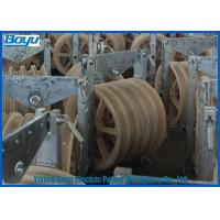 Quality Transmission Line Stringing Mounted Pulleys for Steel Cable Wire Rope , Galvanized Steel Frame for sale