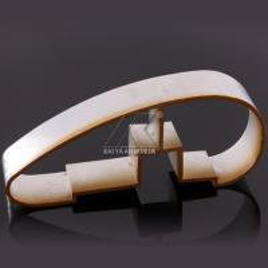 Quality Ajustable Aluminium Handrail Profiles OEM Customize Length Light Wood Grain Finish for sale