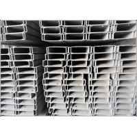 SGS / BV Hot Rolled Black Iron Mild Steel C Channel with Galvanized Surface treatment for sale
