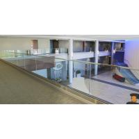 Quality U base channel glass railing with laminated glass aluminum channel for veranda for sale