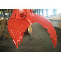 "Quality BSP 3/8"" Excavator Bucket Grab , Hydraulic Grapple Attachment With Grating Bucket for sale"