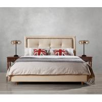 Quality Fabric Upholster padad Headboard Queen Bed Leisure Bedroom Furniture in American design Apartment Bedroom interior fit for sale