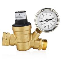 China Low Pressure Oxygen Concentrator Parts Water Adjustable Brass Pressure Adjust Valve on sale