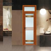 Buy cheap Weather Proof Aluminium Framed Frosted Glass Doors With Stainless Steel Net from wholesalers