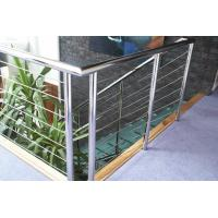 Quality Durable Tension Cable Balustrade Fire Resistance With Round Handrail for sale