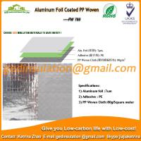 Buy Aluminum Foil Coated PP Woven as roof reflective insulation at wholesale prices