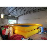 Quality Two Layer Blue Blow Up Swimming Pools 8 X 6m , Rectangle Large Inflatable Swimming Pool for sale