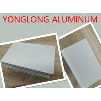 Quality Grey Decorative Wood Finish Aluminium Profiles with Marble Pattern for sale