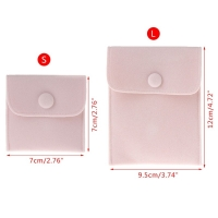 Buy cheap Custom Small velvet envelope Jewelry Pouch with button from wholesalers