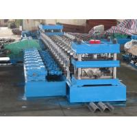 Quality 2 Waves Highway Guardrail Roll Forming MachineFually Automatic Control by Panasonic PLC for sale