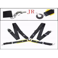 Quality Auto Parts Car Safety Seat Belts , Flexibility Fabric Black Retractable Seat Belts for sale