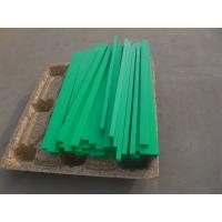 Quality Green color hdpe plastic wear stripe CNC machined parts for sale