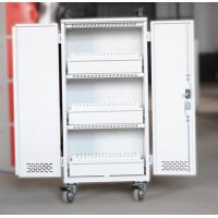 Quality White Mobile Charging Cart Steel Material 60 Units Laptop Charging Cart for sale