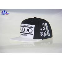 Quality 100% Cotton Woven Snapback Baseball Caps for sale