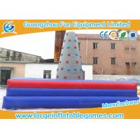 Quality Square Inflatable Sport Games , Inflatable Rock Climbing Wall For Commercial Events for sale