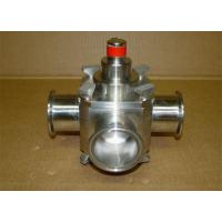 1 Inch Sanitary Ball Valves Three Way PTFE Sealing Material For Food Line for sale
