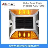 Quality 6 LED Solar Road Studs Solar Driveway Lights Aluminum Solar Highway Marker Lights Pedestrian Crossings Warning Lights for sale