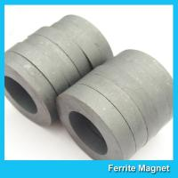 Quality Hard Diametrically Magnetized Ferrite Ring Magnet Round Custom Size Y30 Y35 for sale