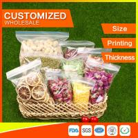 Buy Customized Packing Ziplock Bags LDPE Poly Bags Food Packaging Clear Grip Seal at wholesale prices
