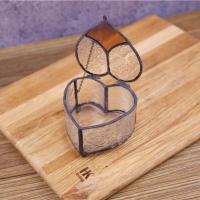 China Fashion Small Size Glass Jewellery Box Wedding Ring Box Wholesale for sale