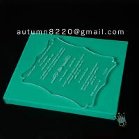 Quality interesting customized acrylic invitation for sale