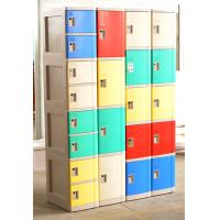 Quality 1609 X 727 X 300 Mobile Phone Lockers Blue / Beige Double Tier Lockers With Charging for sale