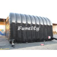 China Black Inflatable Tunnel Tent Facet / Marquee Tent In Sewing Technology on sale