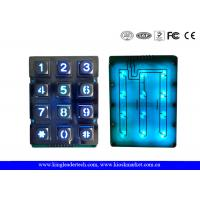China Illuminated Indoor Access Control Zinc Alloy Metal Keypad With 12 Keys on sale