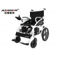 Quality Custom Electric Wheelchairs Black , Lightweight Travel Wheelchair Health Care for sale
