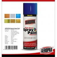 Quality Fast Dry 400ml Aerosol Spray Paints /  High Coverage Black Spray Paint For Cars for sale