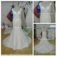 Quality NEW!!! V neck Mermaid wedding dress Lace skirt Bridal gown #AS1576 for sale