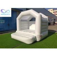 Quality Pink White 0.55mm PVC Inflatable Bouncer Jumping Castle for sale